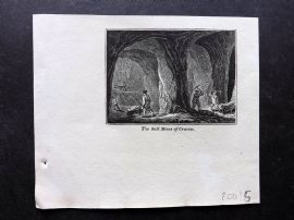 Phillips (Pub) 1823 Antique Print. Salt Mines of Cracow, Poland